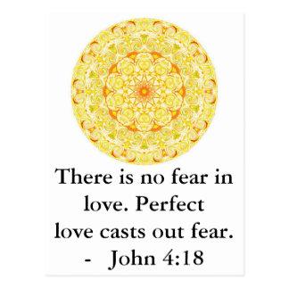 John-4:18 - Inspirieren des BIBLISCHEN ZITATS Postkarte