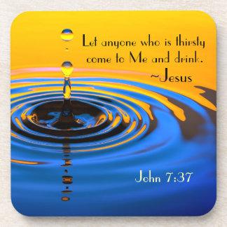 John-7:37 jedermann, das gekommen zu mir thirsy untersetzer