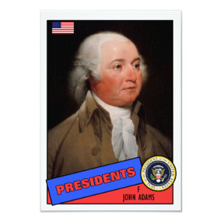 John Adams-Baseballkarte Personalisierte Einladung
