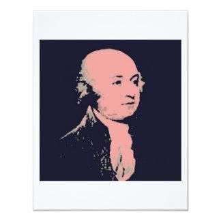 John Adams Individuelle Ankündigungskarte
