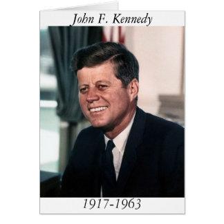 John F. Kennedy, das Haus-Foto-Porträt Karte