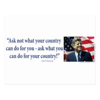 John F. Kennedy - fragen Sie nicht, was Ihr Land Postkarte