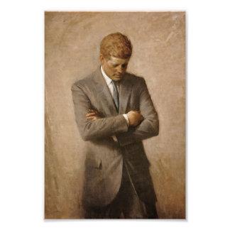 John F. Kennedy-Porträt Kunstphotos