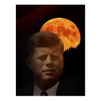 John F. Kennedy und der rote Mond Postkarte