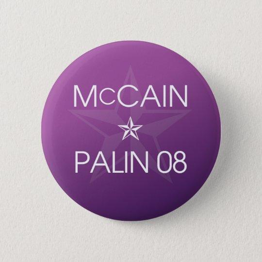 John McCain * Sarah Palin 2008 Runder Button 5,1 Cm