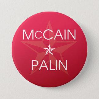 John McCain * Sarah Palin Runder Button 7,6 Cm