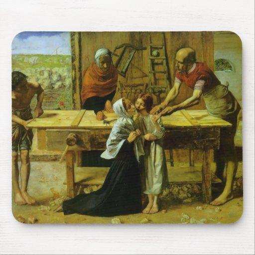John Millais- le Christ dans la Chambre de ses par Tapis De Souris