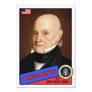 John Quincy Adams-Baseballkarte 8,9 X 12,7 Cm Einladungskarte