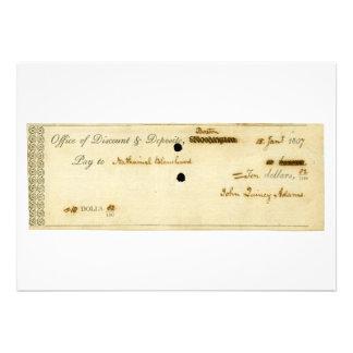 John Quincy Adams VORLAGE unterzeichneter Karo Personalisierte Ankündigungskarten