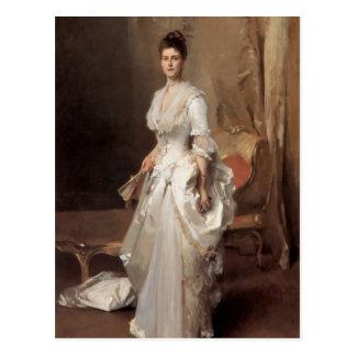 John-Sänger Sargent- Frau Henry White Postkarte