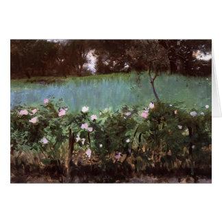 John-Sänger Sargent- Landschaft mit Rosen-Gitter Karte