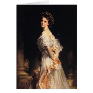 John-Sänger Sargent- Nancy Astor Grußkarte