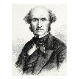 John Stuart Mill-Porträt Postkarte