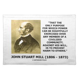 John Stuart Mill verhindern Schaden zu anderen Tisch Set