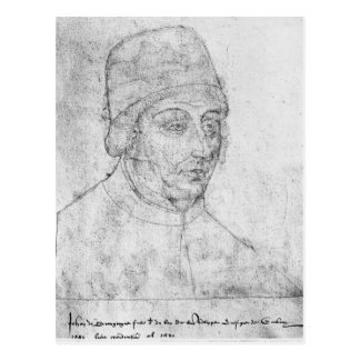 John von Burgunder, Bischof von Cambrai Postkarte