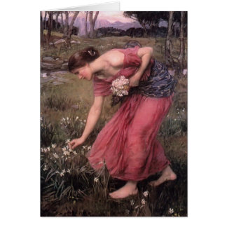 John William Waterhouse-Narzisse Grußkarte