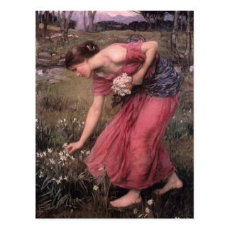 John William Waterhouse-Narzisse Postkarte