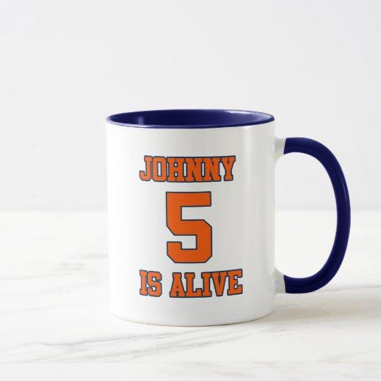 Johnny fünf ist lebendig tasse