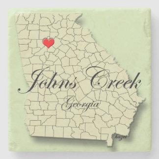 Johns-Nebenfluss, Georgia, Herz, Steinuntersetzer