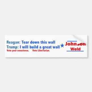 Johnson-Schweißung 2016 -- Trumpf ist kein Reagan Autoaufkleber