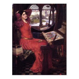 JohnWaterhouse-Dame von Shalott Postkarte