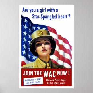 Joignez le WAC maintenant ! Posters