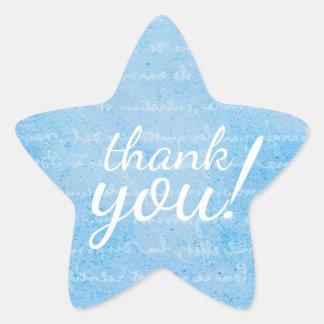 Joint bleu-clair et blanc de cadeau d'étoile sticker étoile