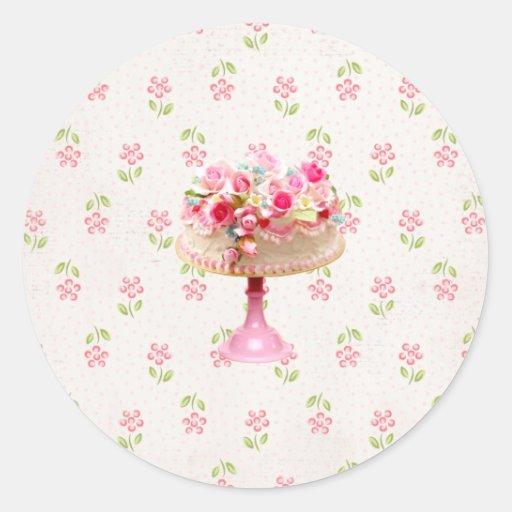 Joint de gâteau de fleur….autocollant