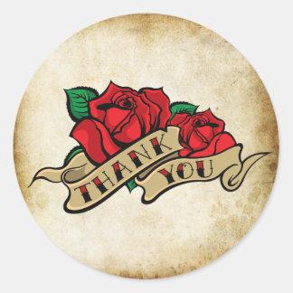 Joints urbains de Merci de rockabilly rose de Sticker Rond