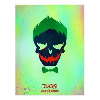 Joker-Kopf-Ikone der Selbstmord-Gruppe-  Postkarte