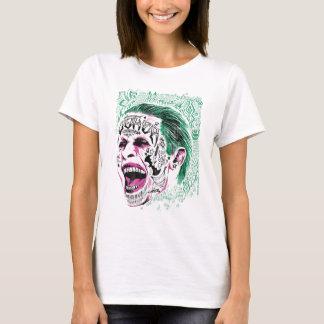 Joker-Kopf-Skizze der Selbstmord-Gruppe-| lachende T-Shirt