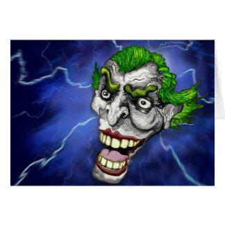 Joker-Spaßvogel in einem Blitz-Sturm durch Doug Karte