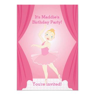 Jolie invitation de fête d'anniversaire de fille