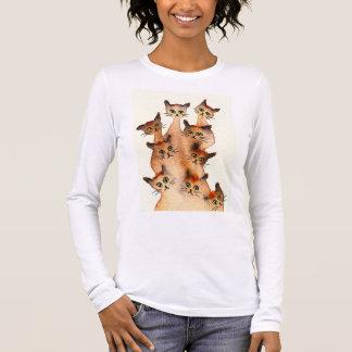 Joliet wunderliche Katzen Langarm T-Shirt