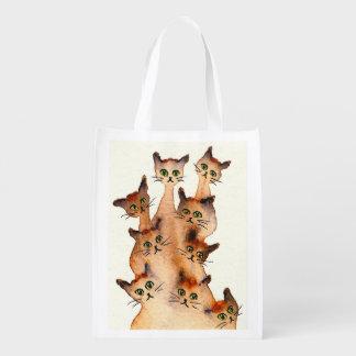 Joliet wunderliche Katzen Wiederverwendbare Einkaufstasche