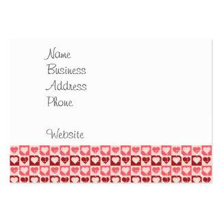 Jolis coeurs en cadeaux de Saint-Valentin de carré Modèle De Carte De Visite