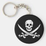 Jolly roger de drapeau de pirate de John Rackham ( Porte-clef
