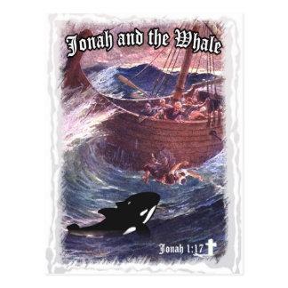 Jonas-1:17 - Jonas und der Wal Postkarte
