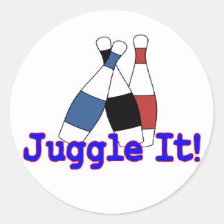 Jonglez-le jongleur sticker rond