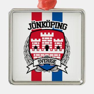 Jönköping Quadratisches Silberfarbenes Ornament