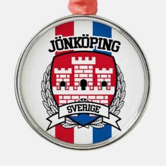 Jönköping Rundes Silberfarbenes Ornament