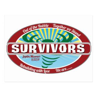 Joplin Überlebender Postkarte