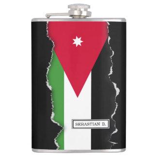 Jordanien-Flagge Flachmann