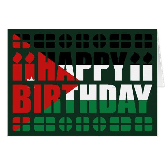 Jordanien-Flaggen-Geburtstags-Karte Grußkarte