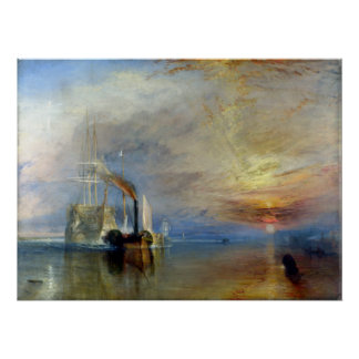 Joseph Mallord William Turner das kämpfende Poster
