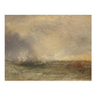 Joseph Mallord William Turner - stürmisches Meer Postkarte