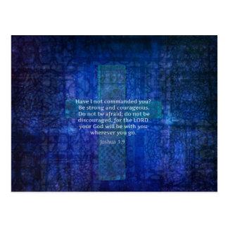 Joshua-1:9 Bibel-Vers über Stärke Postkarte