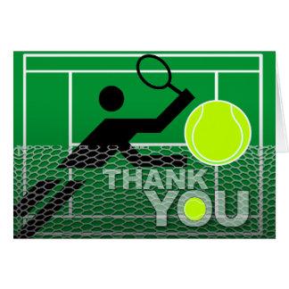 Joueur de tennis de carte de remerciements