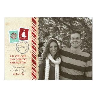 Jour férié carte de photo Vintage Carton D'invitation 12,7 Cm X 17,78 Cm