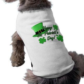Jour frais de St Patricks de shamrocks de chapeau T-shirt Pour Chien